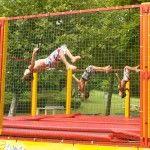 Accès libre trampoline