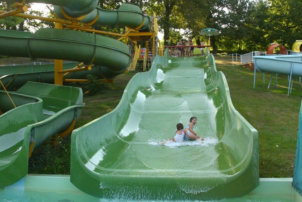 A slide, very fun to fly down at great speed, for lovers of excitement