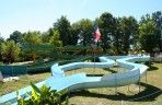 Water slides for children and adults in this lovely, green setting in the Dordogne