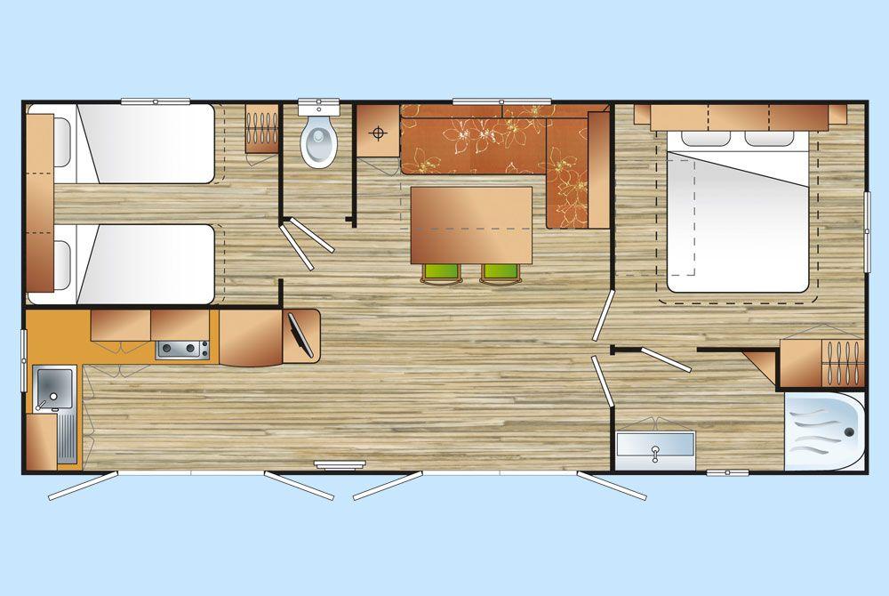 Mobil home p rigord noir mobilhome avec chambre parentale for Plan suite parentale 35m2