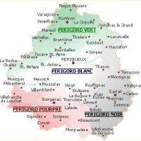carte du perigord en Dordogne