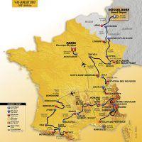 Parcours 2017 du tour de France